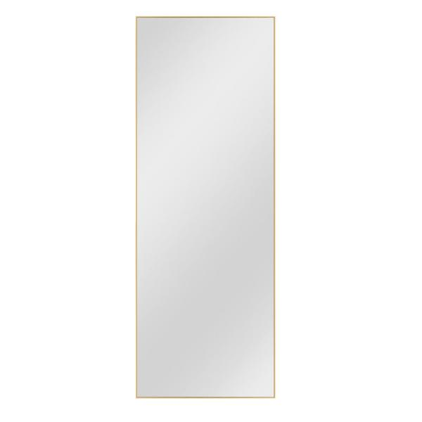 55 in. x 20 in. Modern Rectangule Metal Framed Wall Mounted Accent Mirror