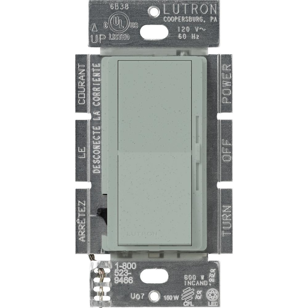 Lutron Diva C.L Dimmer for Dimmable LED, Halogen and Incandescent Bulbs, Single-Pole or 3-Way, Bluestone