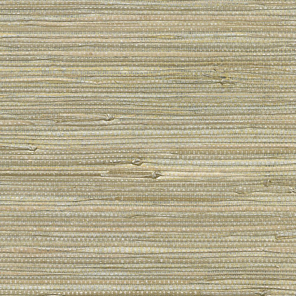 72 sq. ft. Iriga Platinum Grass Cloth Wallpaper