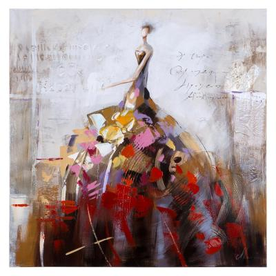 """39 in. x 39 in. """"Dance of Life II"""" Contemporary Artwork"""