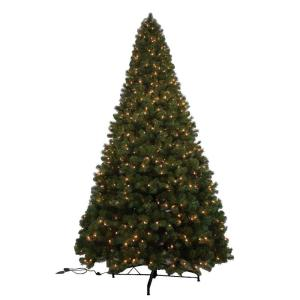12 ft noble fir quick set artificial christmas tree with 1450 clear lights - 12 Christmas Tree