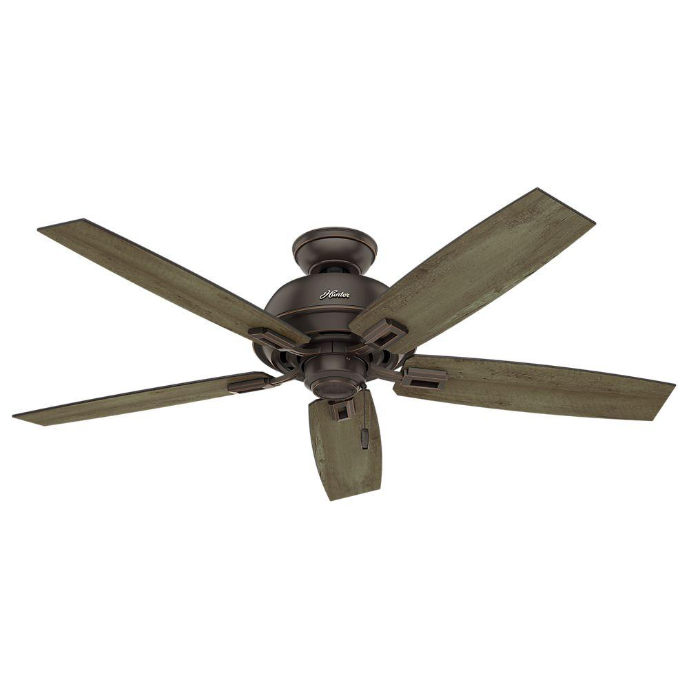 Hunter donegan 52 in indoor outdoor onyx bengal bronze for Hunter ceiling fan motor