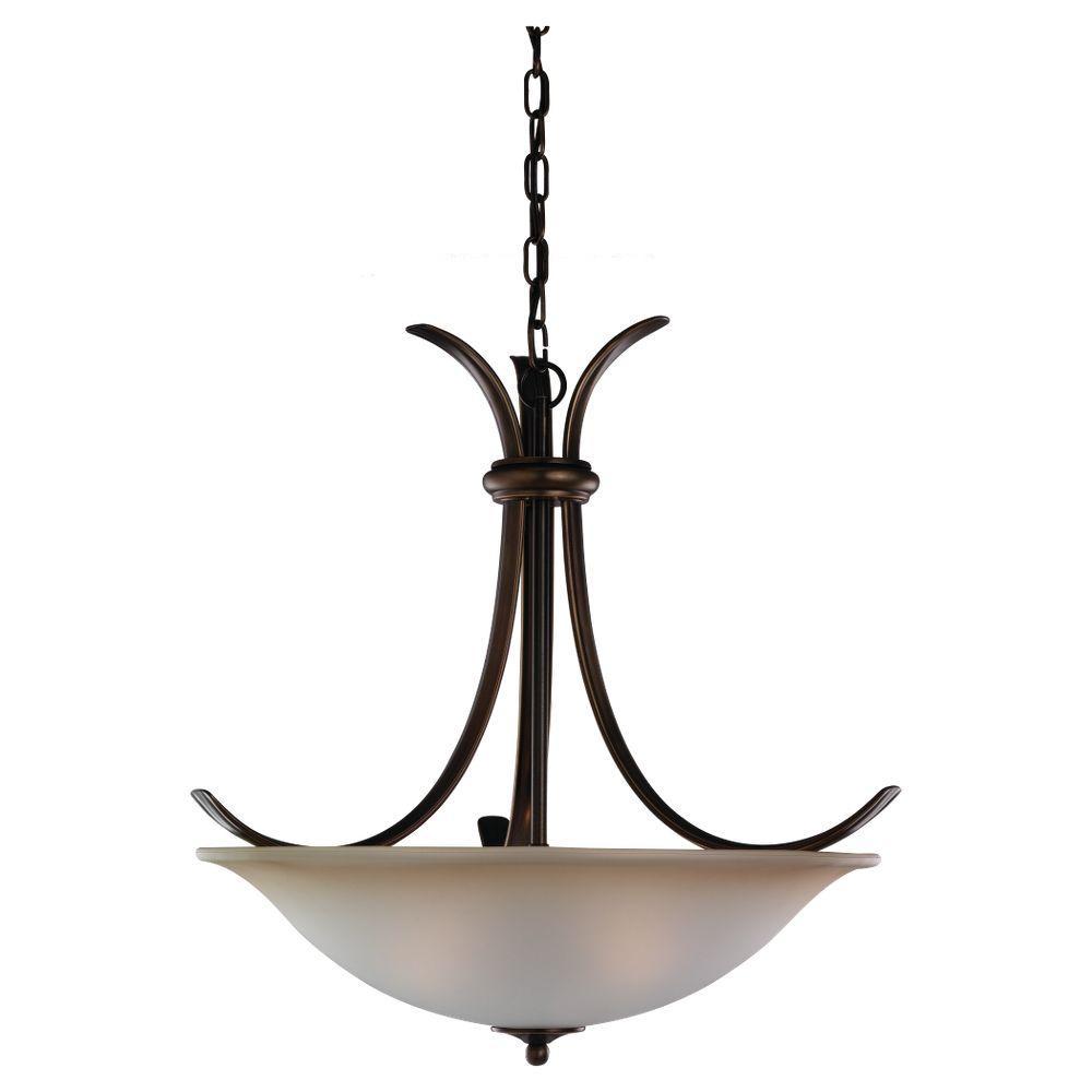 Sea Gull Lighting Rialto 3-Light Russet Bronze Pendant