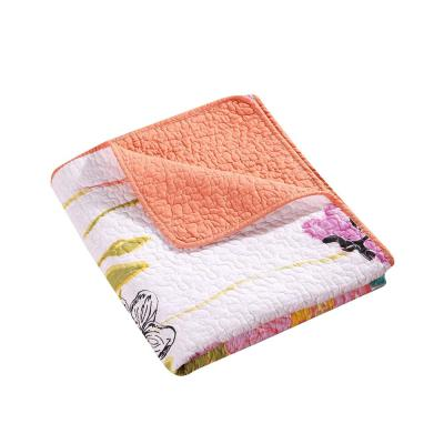 Watercolor Multicolored Throw Blanket