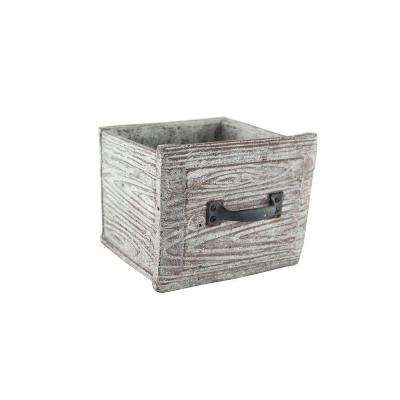 5 in. x 4-1/2 in. x 4-1/2 in. Cement Vintage Drawer