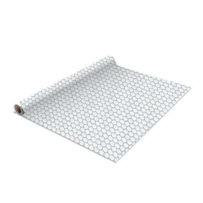 2-Pack Penny Tile Self-Adhesive Shelf Liner in White