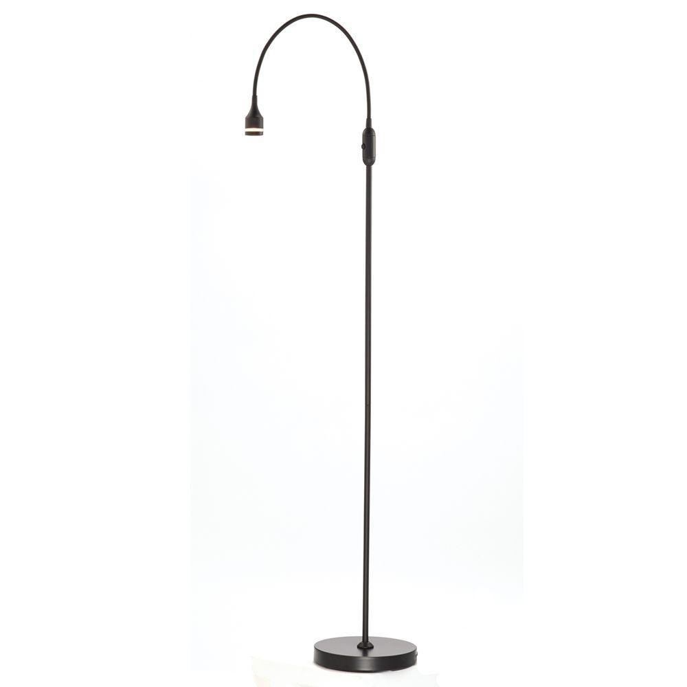 Prospect 56 in. Black LED Floor Lamp
