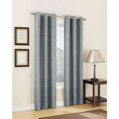 Semi-Opaque Silver Tom Thermal Lined Curtain Panel, 40 in. W x 63 in. L