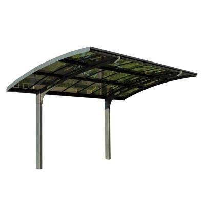 Arizona 5000 Breeze 9 ft. 6 in. x 16 ft. 3 in. x 9 ft. H Carport with Solid Solar Gray Polycarbonate Roof Panels