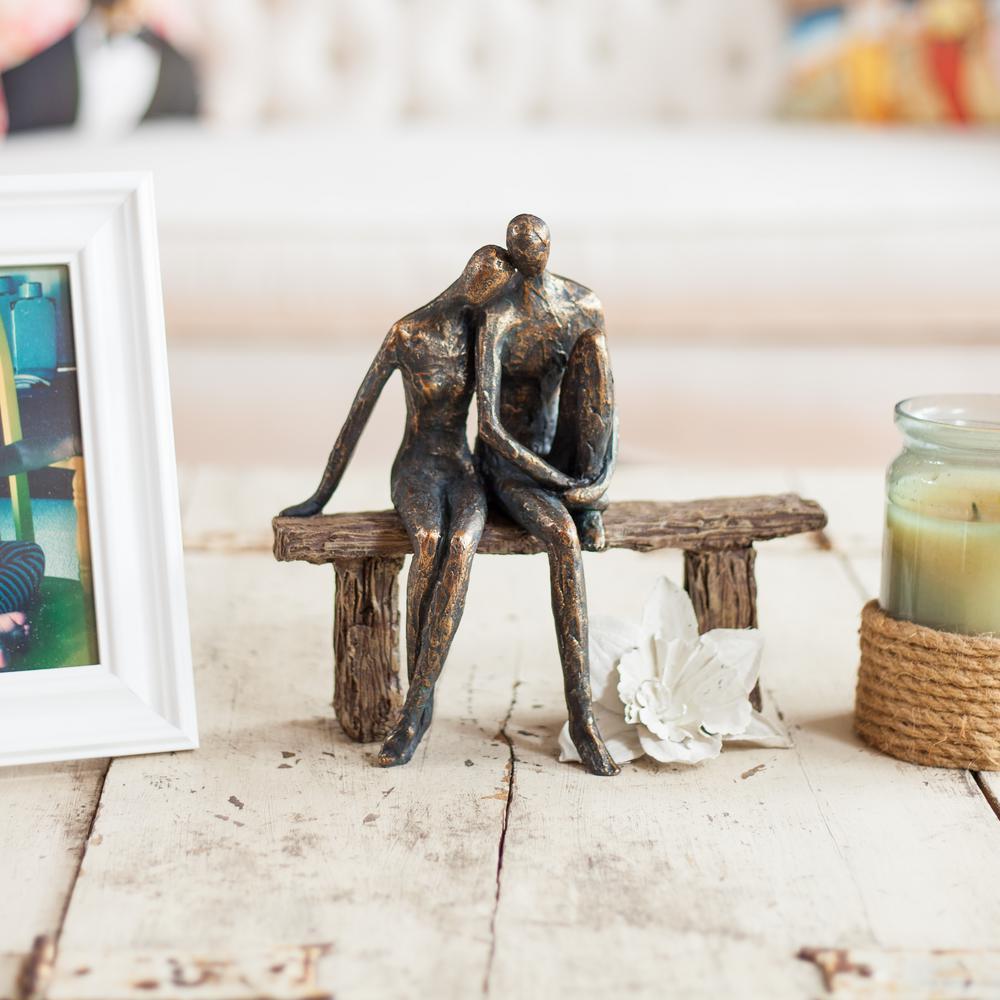 Danya B Danya B Couple On Park Bench Resin Sculpture