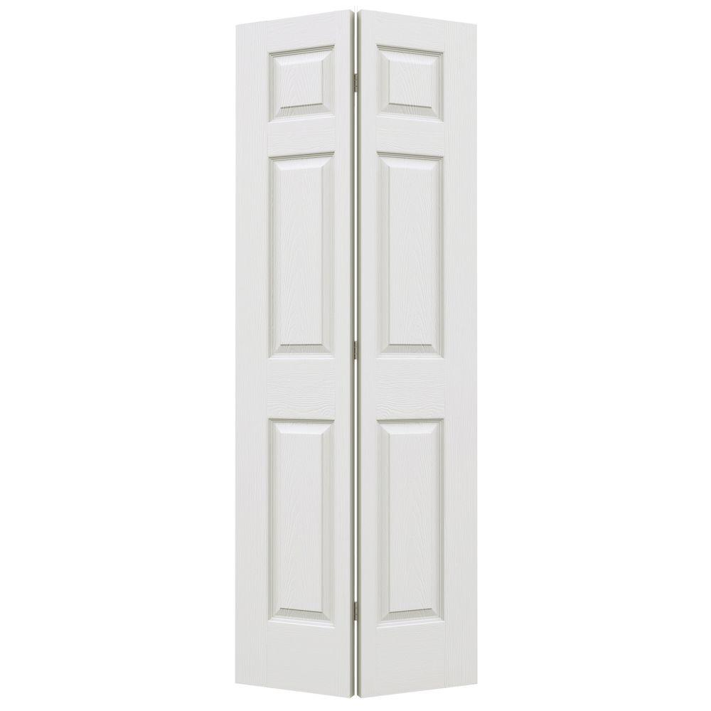 24 In. X 80 In. Colonial Primed Textured Molded Composite MDF Closet  Bi Fold Door THDJW160600147   The Home Depot
