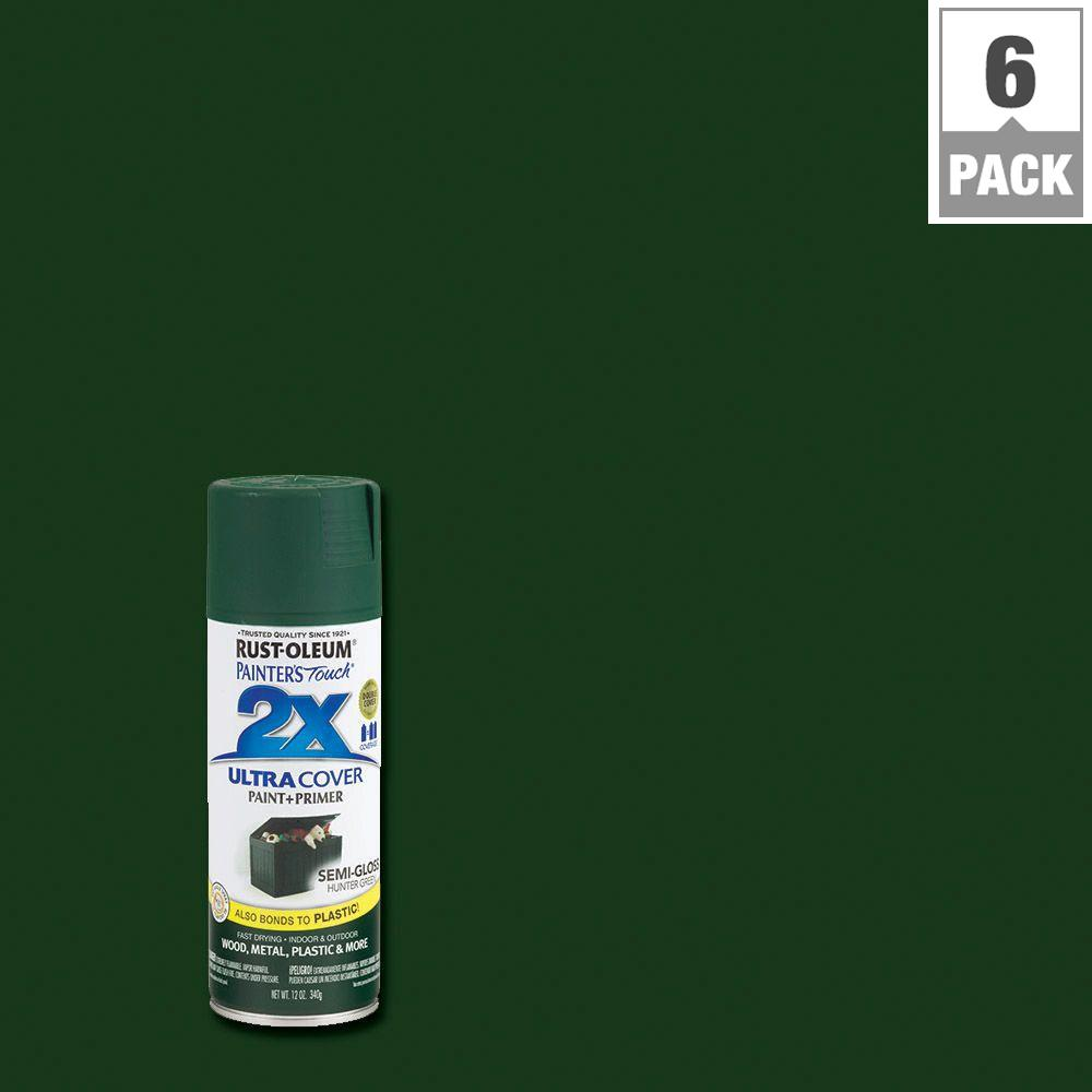 12 oz. Hunter Green Semi-Gloss General Purpose Spray Paint (6-Pack)
