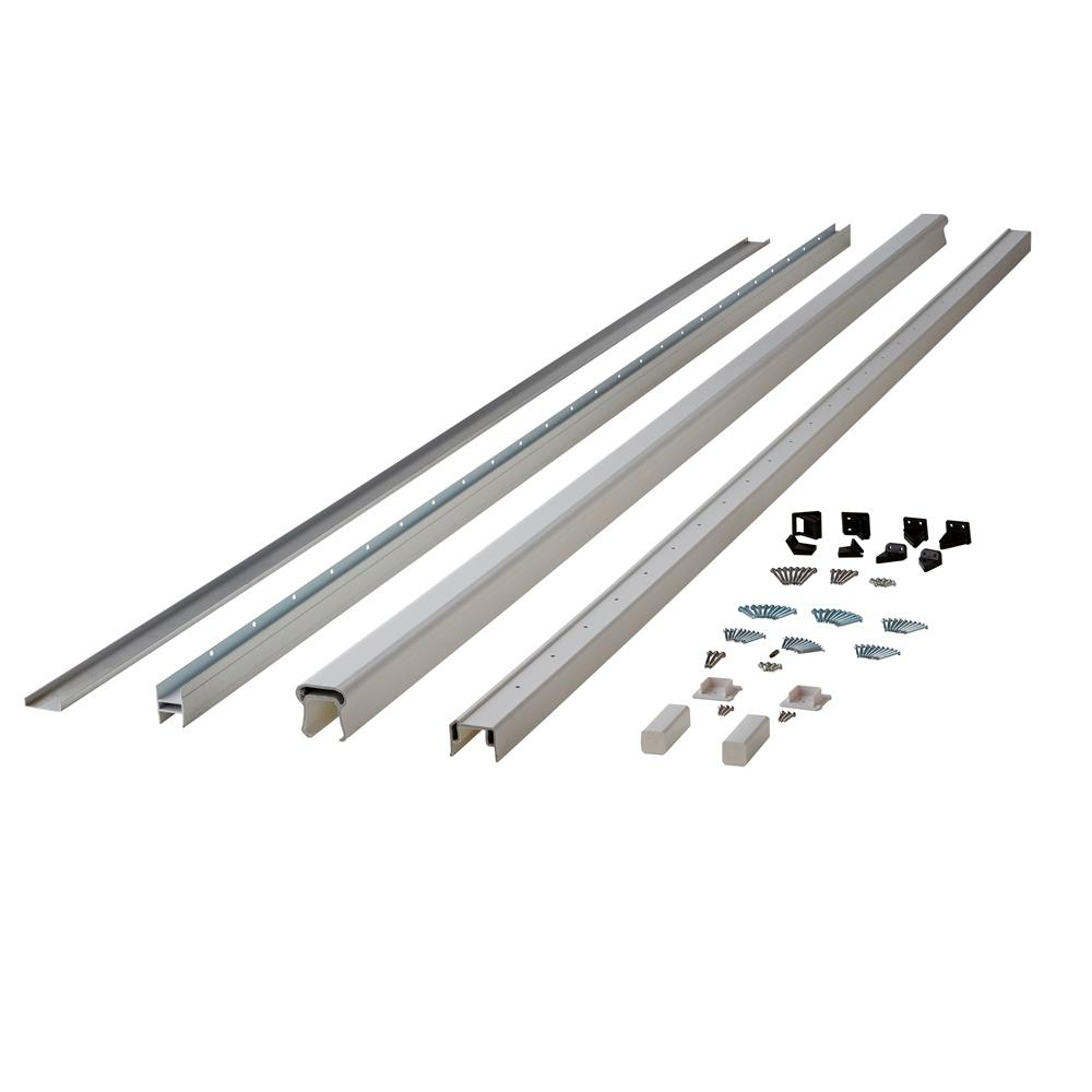 Symmetry 10 ft. Tranquil White Capped Composite Line/Stair Rail Kit