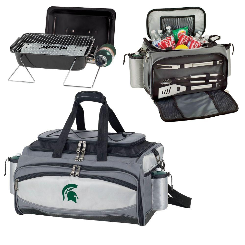 Picnic Time Michigan State Spartans - Vulcan Portable Propane Grill and Cooler Tote by Digital Logo