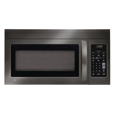 LG Electronics 1.8 cu. ft. Over the Range Microwave with Sensor Cook and EasyClean in Black Stainless Steel