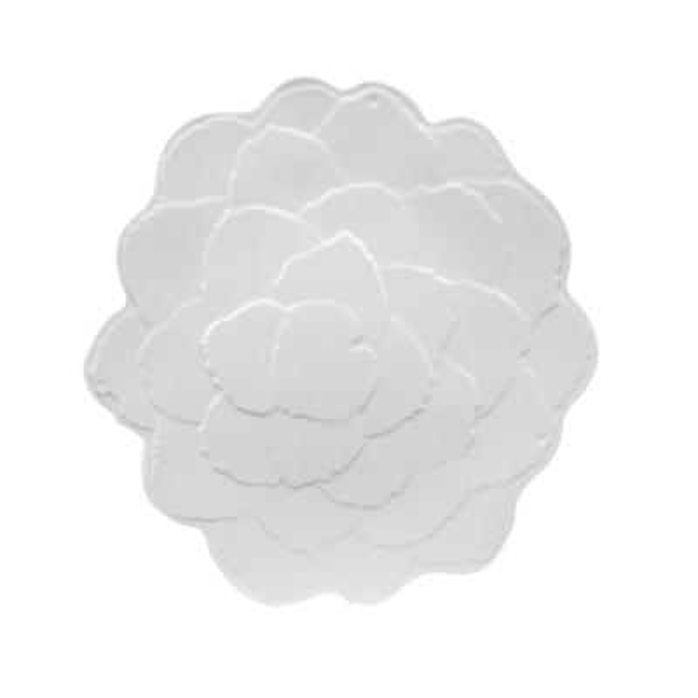 Botanical Galax Leaf Porcelain White Salad Plate (Set of 4)