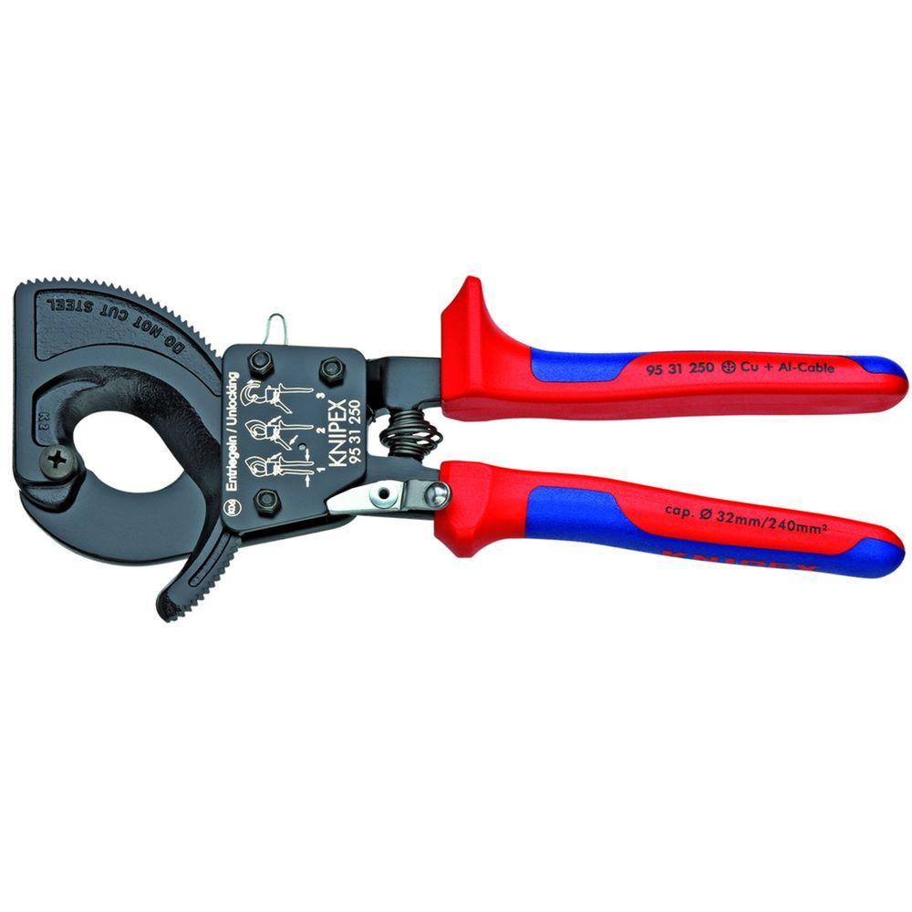 Knipex 10 in. Ratcheting Cable Cutters with Comfort Grip