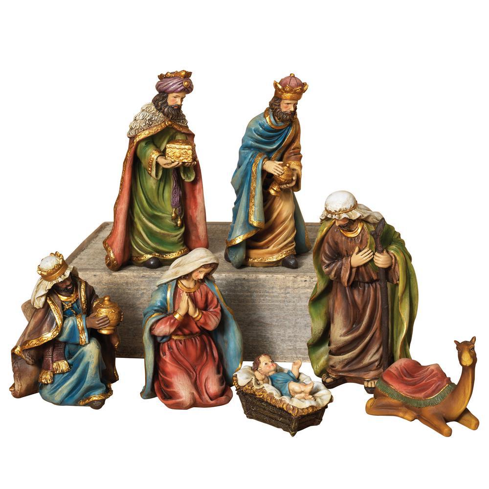 7 Piece Resin Nativity Set 2213190EC The Home Depot