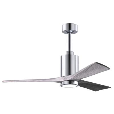 Patricia 52 in. LED Indoor/Outdoor Damp Polished Chrome Ceiling Fan with Light with Remote Control, Wall Control