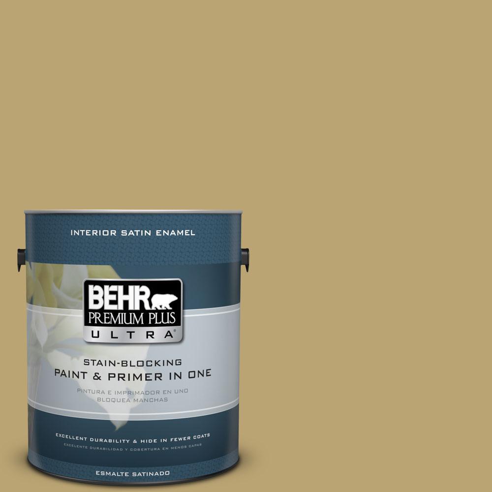 BEHR Premium Plus Ultra Home Decorators Collection 1-gal. #HDC-AC-16 Cumin Satin Enamel Interior Paint