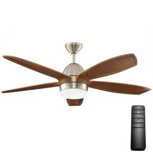 brushed nickel home decorators collection ceiling fans with lights 57254 64_300 hunter contempo 52 in indoor brushed nickel ceiling fan with