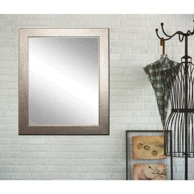 Large Rectangle Silver/Gold Hooks Modern Mirror (41 in. H x 32 in. W)