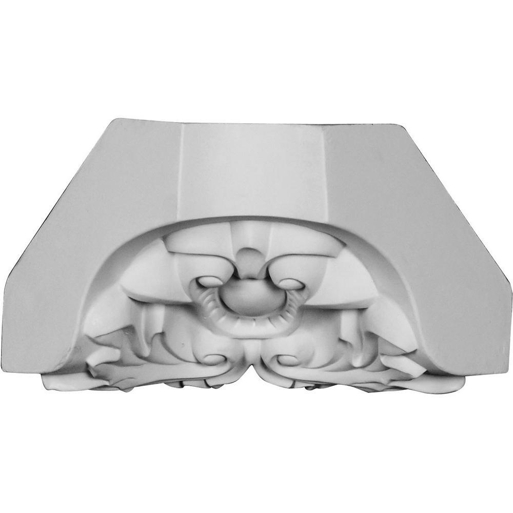 4 in. x 5-5/8 in. x 4 in. Polyurethane Cole Crown Inside Corner Block Moulding