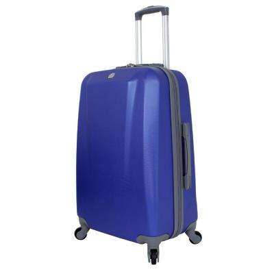 24 in. Upright Hardside Spinner Suitcase in Blue