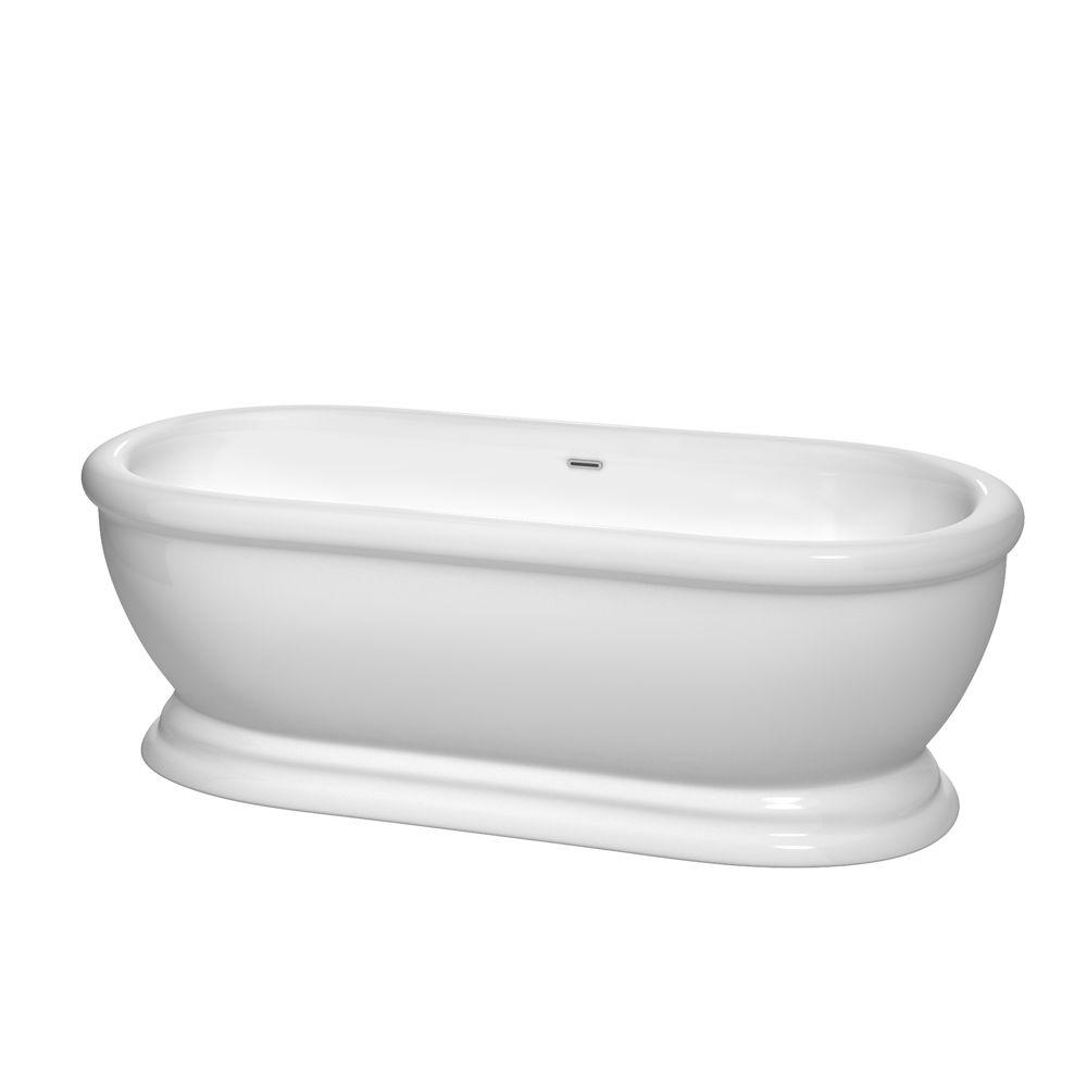 Wyndham Collection Mary 5 7 Ft Acrylic Classic Flatbottom