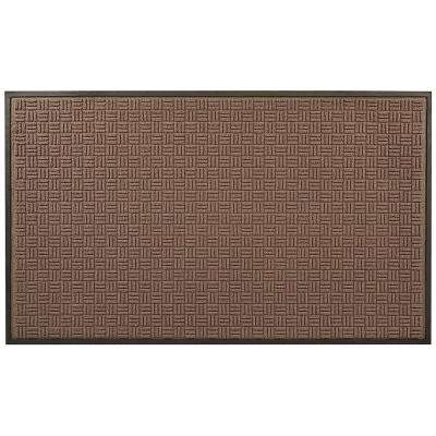 Portrait Brown 24 in. x 36 in. Rubber-Backed Entrance Mat