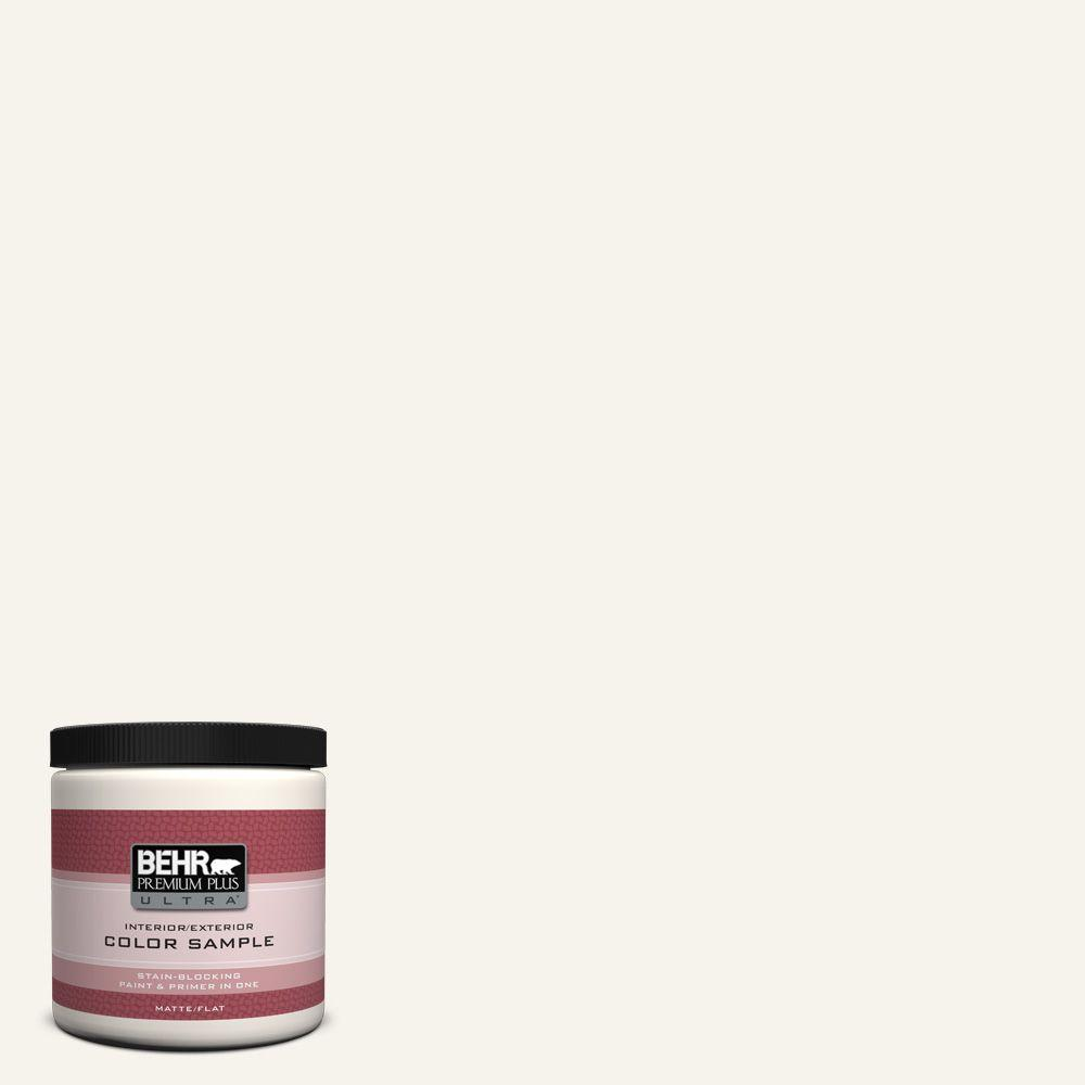 8 oz. #400E-1 Mirage White Matte Interior/Exterior Paint and Primer in