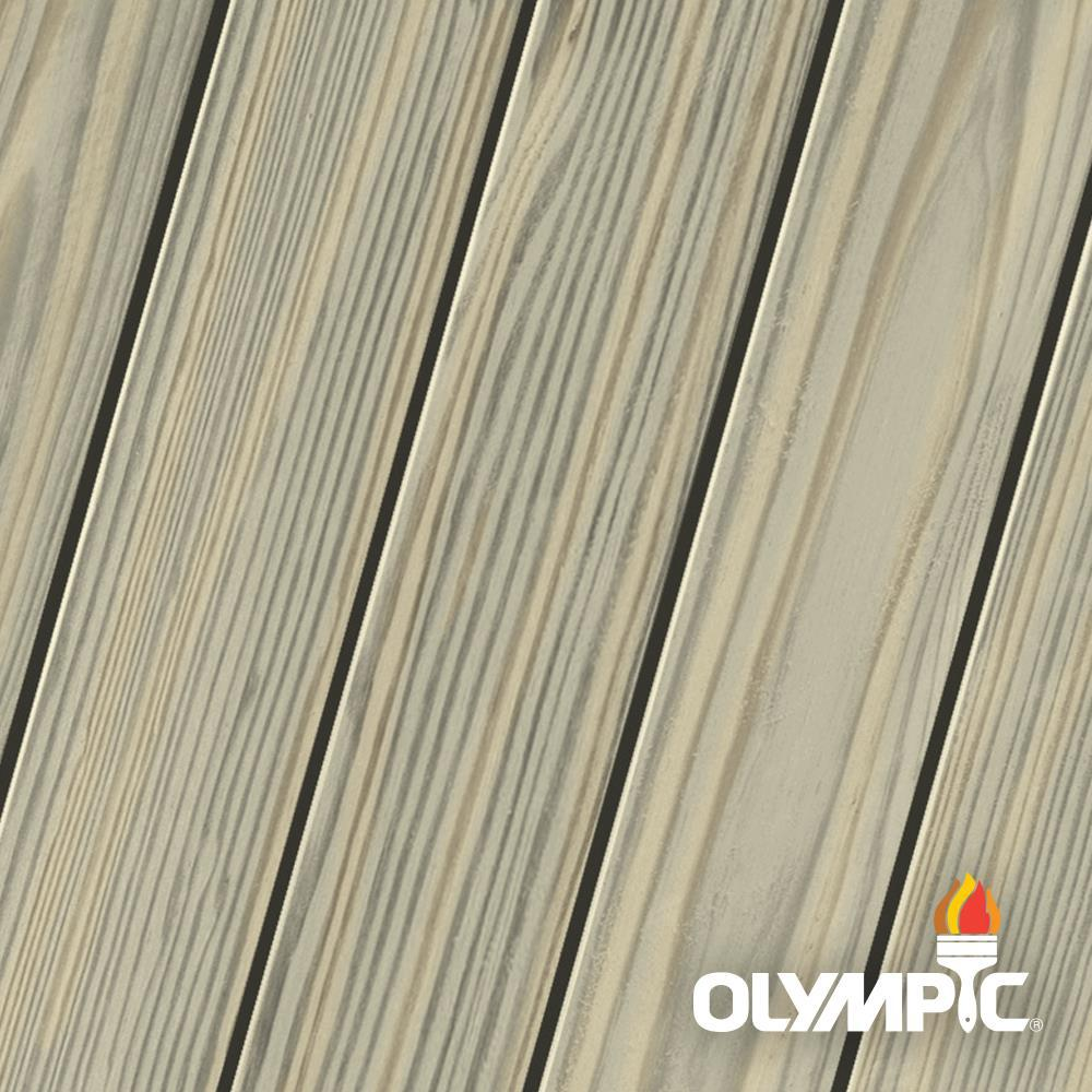 Olympic Elite 1 Gal. Drift Semi-Solid Exterior Wood Stain and Sealant in One
