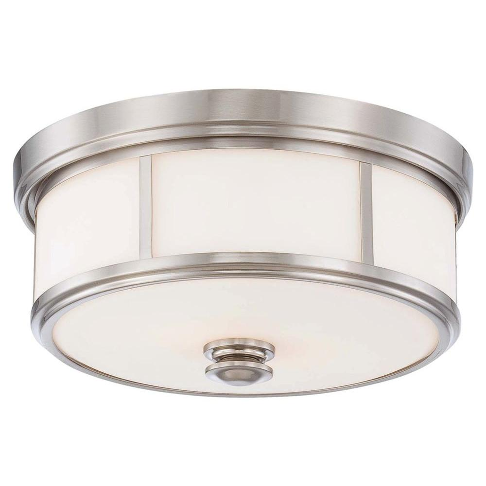 Harbour Point 2 Light Brushed Nickel Flush Mount