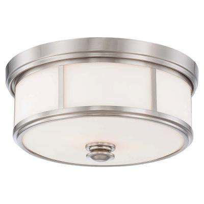 Harbour Point 2-Light Brushed Nickel Flushmount