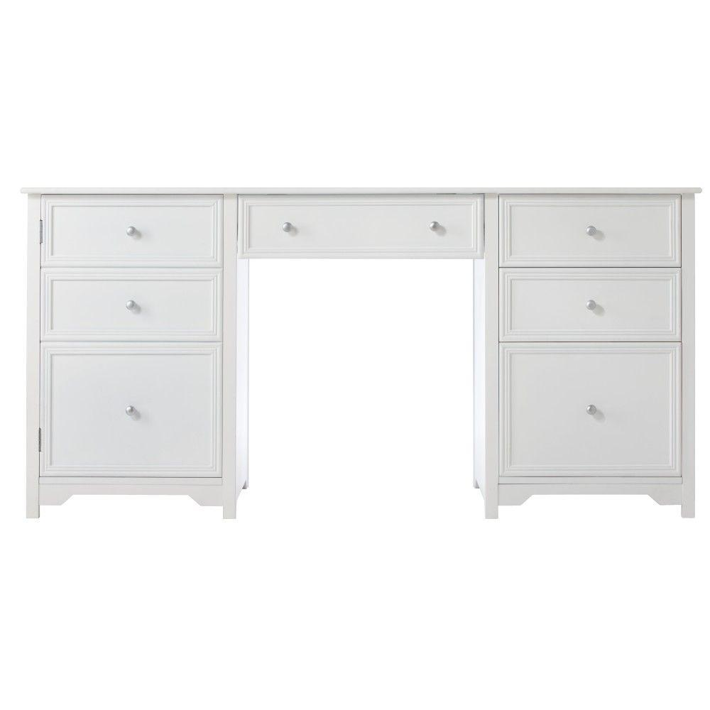 Home Decorators Collection 30.5 in. H x 63 in. W x 23 in. D Oxford Desk in White