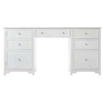 30.5 in. H x 63 in. W x 23 in. D Oxford Desk in White