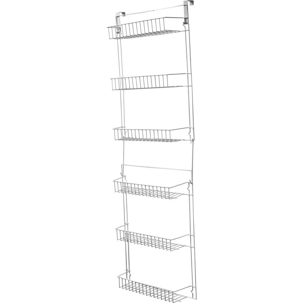 6-Shelf Overdoor Storage Rack