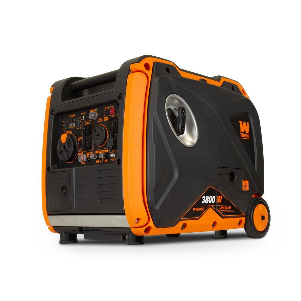 WEN Super Quiet 3800-Watt Gas-Powered RV-Ready Portable Inverter Generator with Fuel Shut-Off and Electric Start