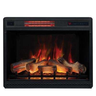 28 in. Ventless Infrared Electric Fireplace Insert with Trim Kit