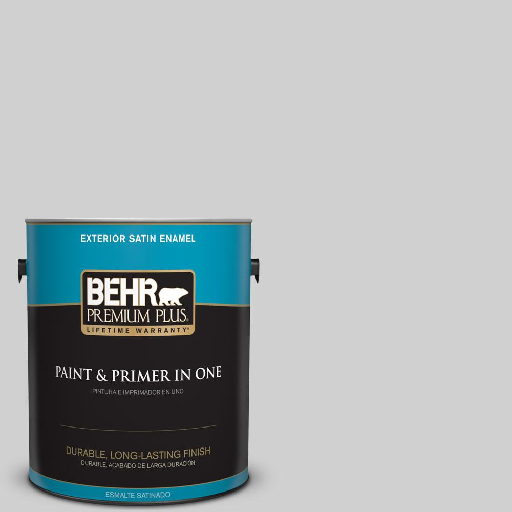 1 gal. #N520-1 White Metal Satin Enamel Exterior Paint and Primer