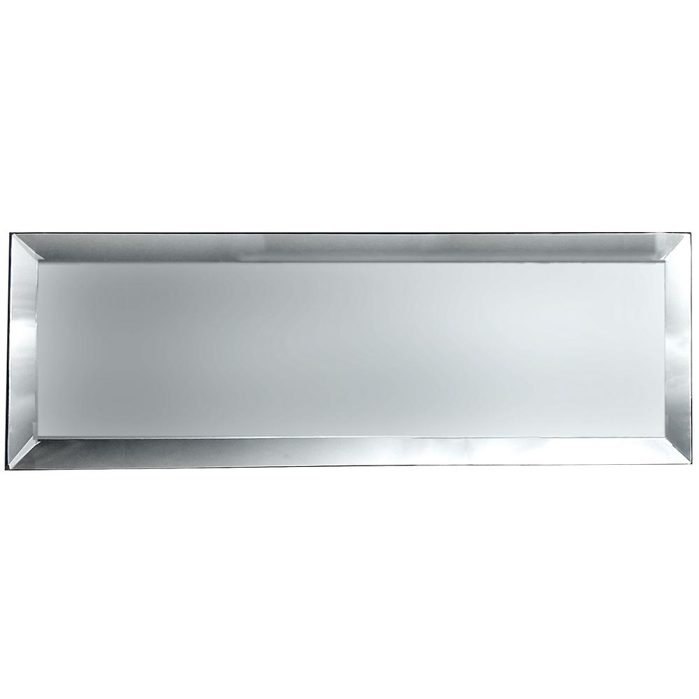 3 in. x 12 in. Echo Silver Matte Glass Peel and