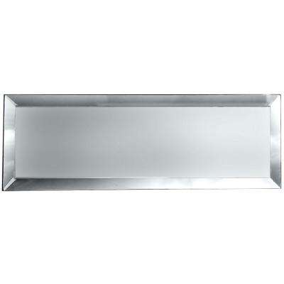 Echo Silver Matte 3 in. x 12 in. Glass Peel and Stick Wall Tile (4-pieces / pack)