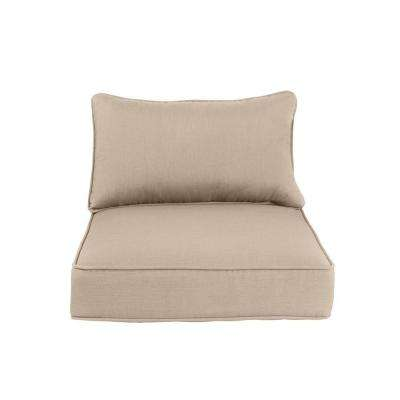 Greystone Replacement Outdoor Lounge Chair and Motion Lounge Chair Cushion in Sparrow