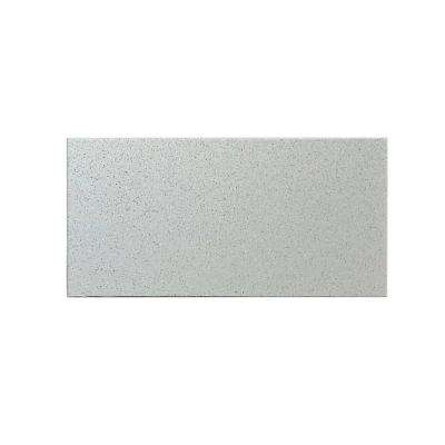 Peel and Stick Glittered Metallic Silver Glass Wall Tile - 6 in. x 3 in. Tile sample