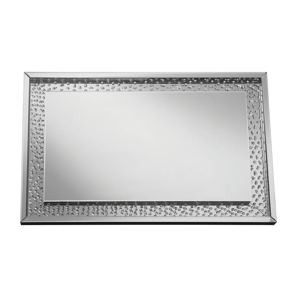 Sherry Rectangle Silver Decorative Wall Mirror