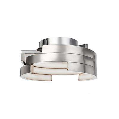Heather 60-Watt Equivalence Brushed Nickel Integrated LED Ceiling Flush Mount