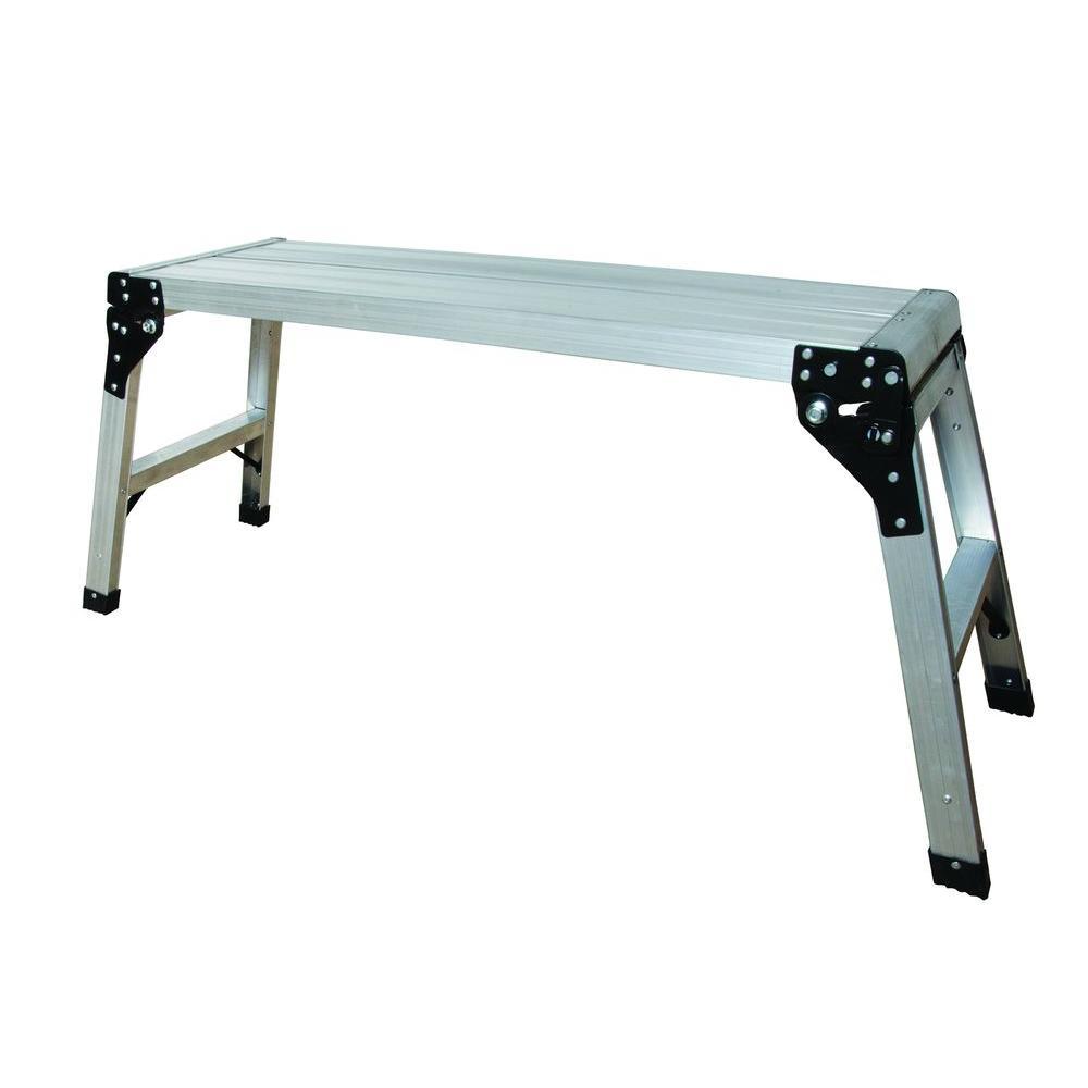 Aluminum Portable Work Platform With 225 Lb Load Capacity