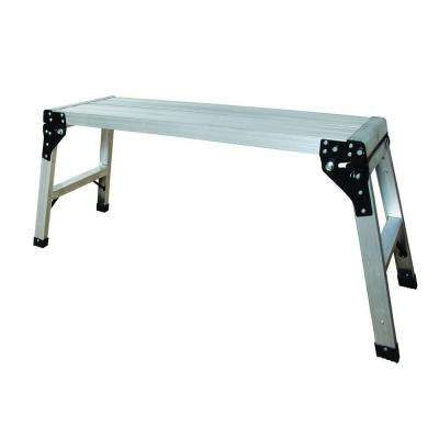 39 in. Aluminum Portable Work Platform with 225 lb. Load Capacity