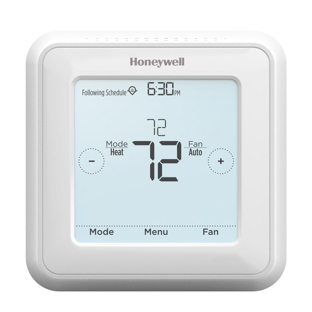 honeywell 7 day programmable t5 touch screen thermostat rth8560d rh homedepot com