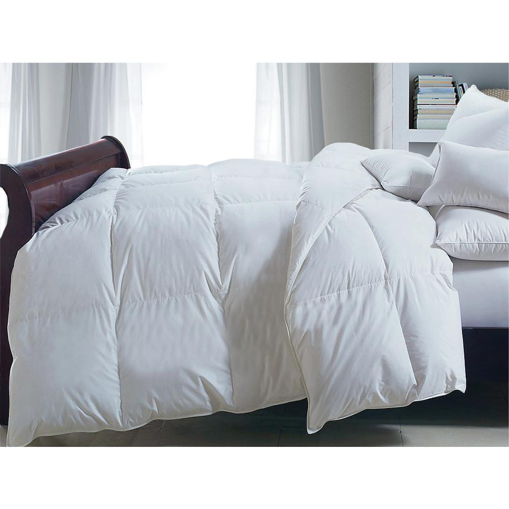 Down White Alternative 233 Thread Count Cotton Twill King Comforter 101003